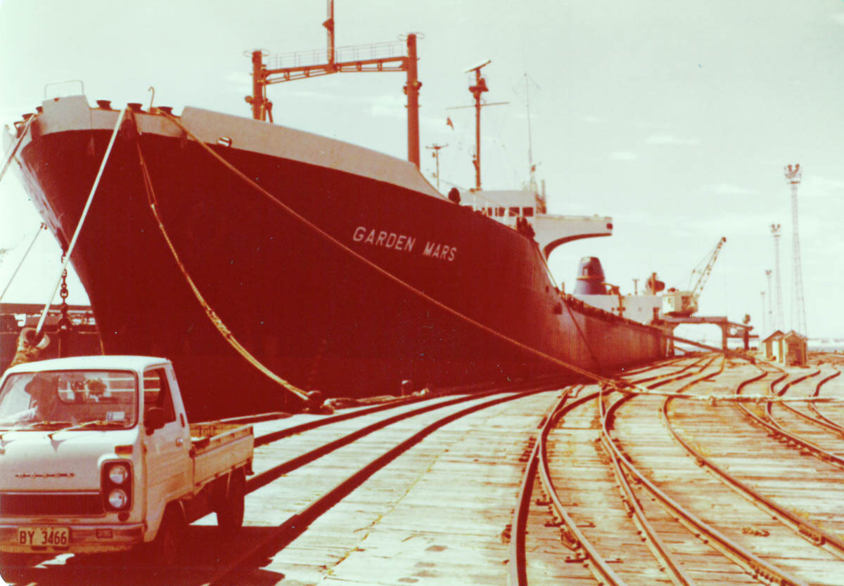 Norman G Clark - Garden Mars Loading at Bunbury with rust filled hold.