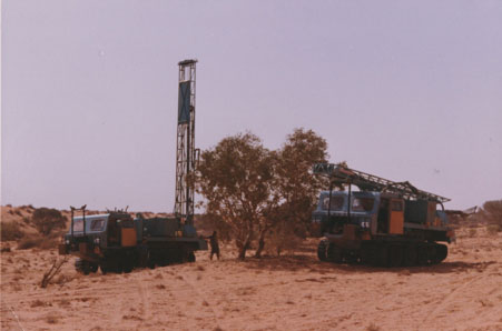 Nodwell Mounted Drill Rigs