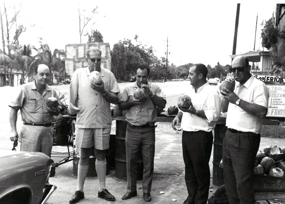 The Morning After TPNG Forestry on left, Farid Wakim(C), John Harper (Timberjack), John Clark (R)