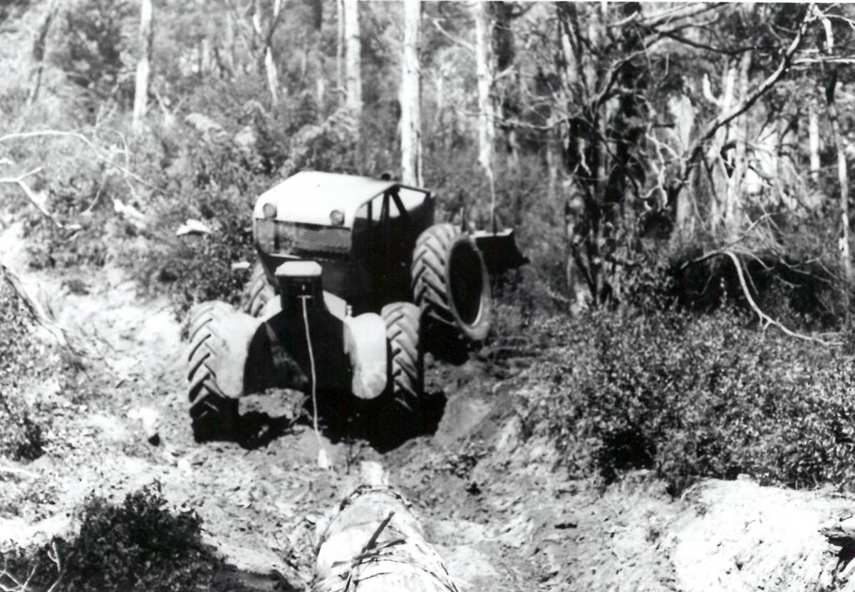 Hardwood logging in difficult country