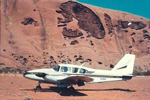 Piper Aztec at Ayers Rock