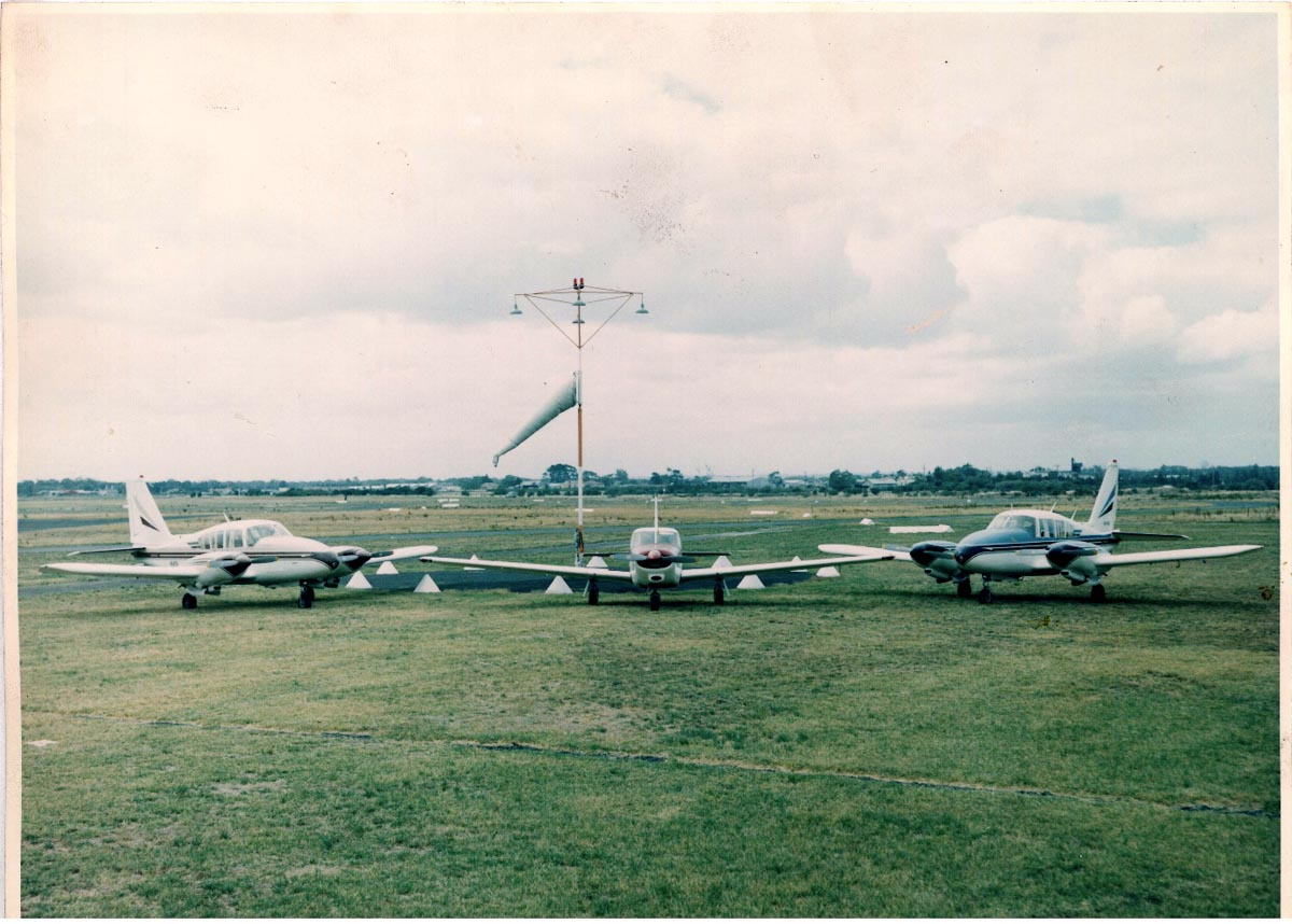 Piper Commanche Single and Aztecs at Moorabbin Airport